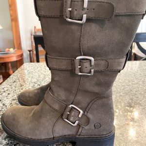 BJORN LEATHER BOOTS GREY SUEDE LUG SOLES